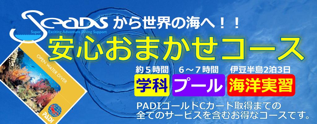PADI ダイビングライセンス(cカード)取得コース